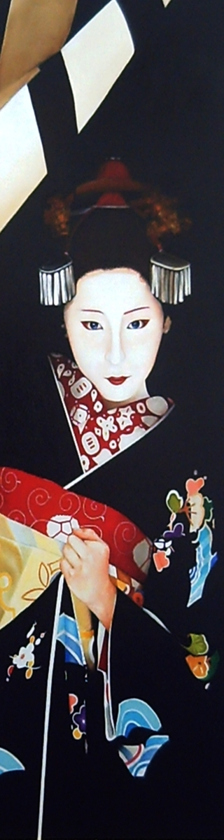 Maiko. The Hour of the Monkey. Japan. Oil on board